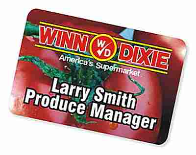 "Custom Name Badges, 2"" X 3"" Rectangle - Click Image to Close"
